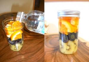 玉肌シリカ天然水でフレーバーウォーター ぶどう&キウイ&オレンジ